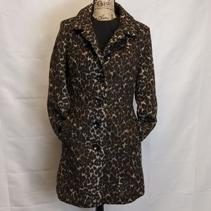 NWT Old Navy Leopard Peacoat, size M